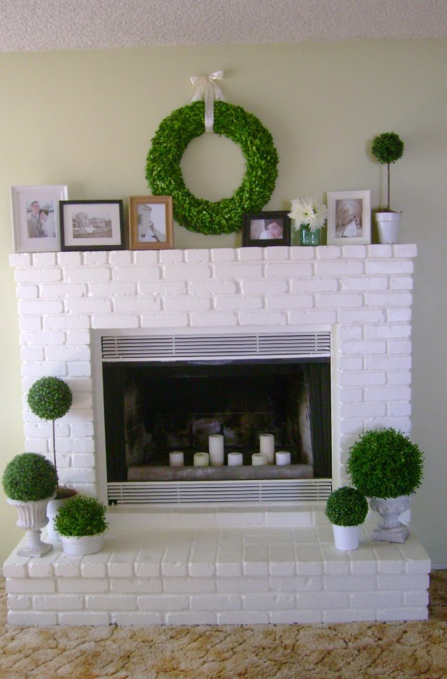 Painting A Fireplace White