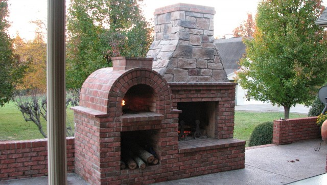 Build Outdoor Fireplace Pizza Oven Home Design Ideas