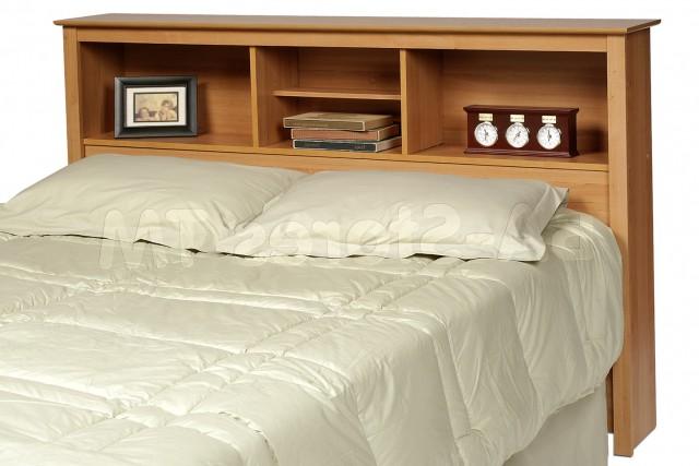 Queen Bed Headboard With Shelves