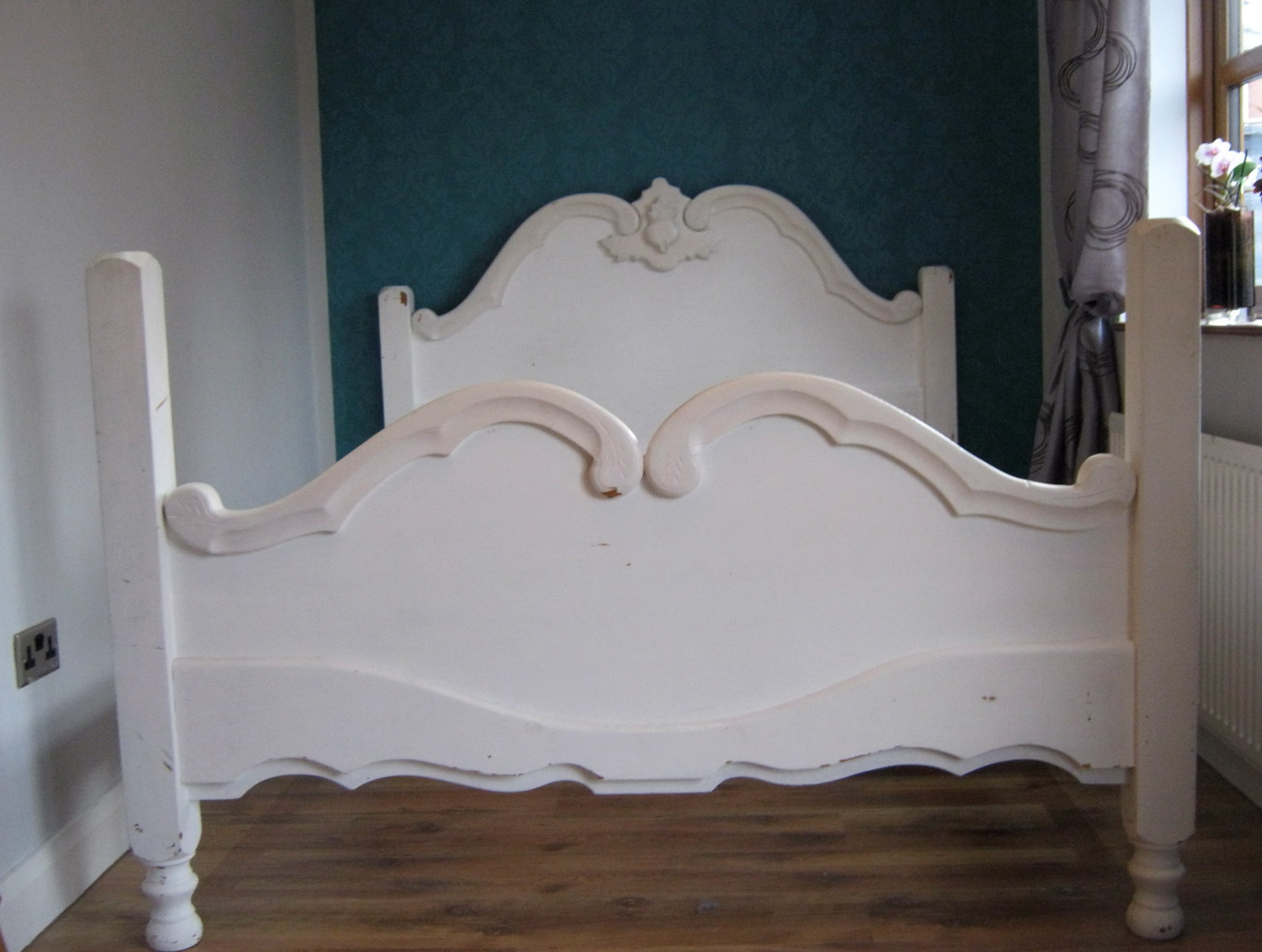 escape inset with headboards shabby belle white headboard cane chic caning caned