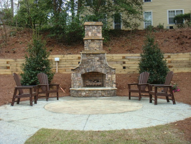 outdoor stone fireplace and grill designs home design ideas
