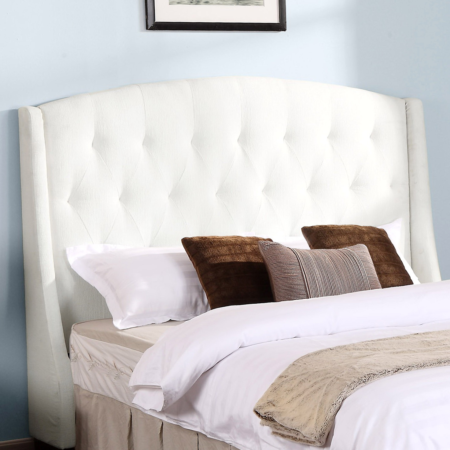 Tufted Wingback Headboard King Home Design Ideas