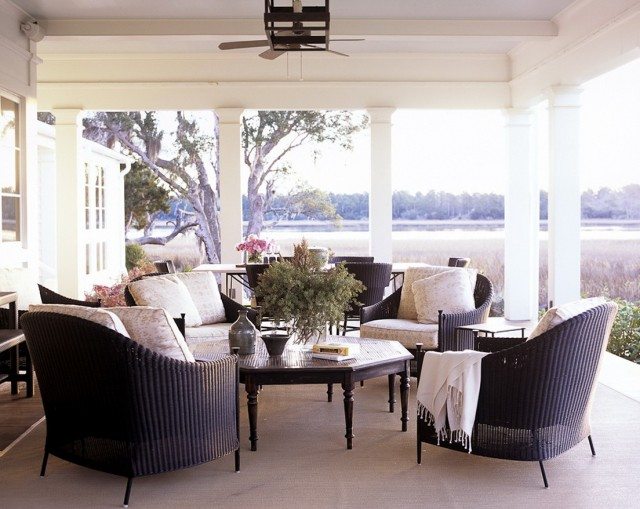 Black Front Porch Furniture