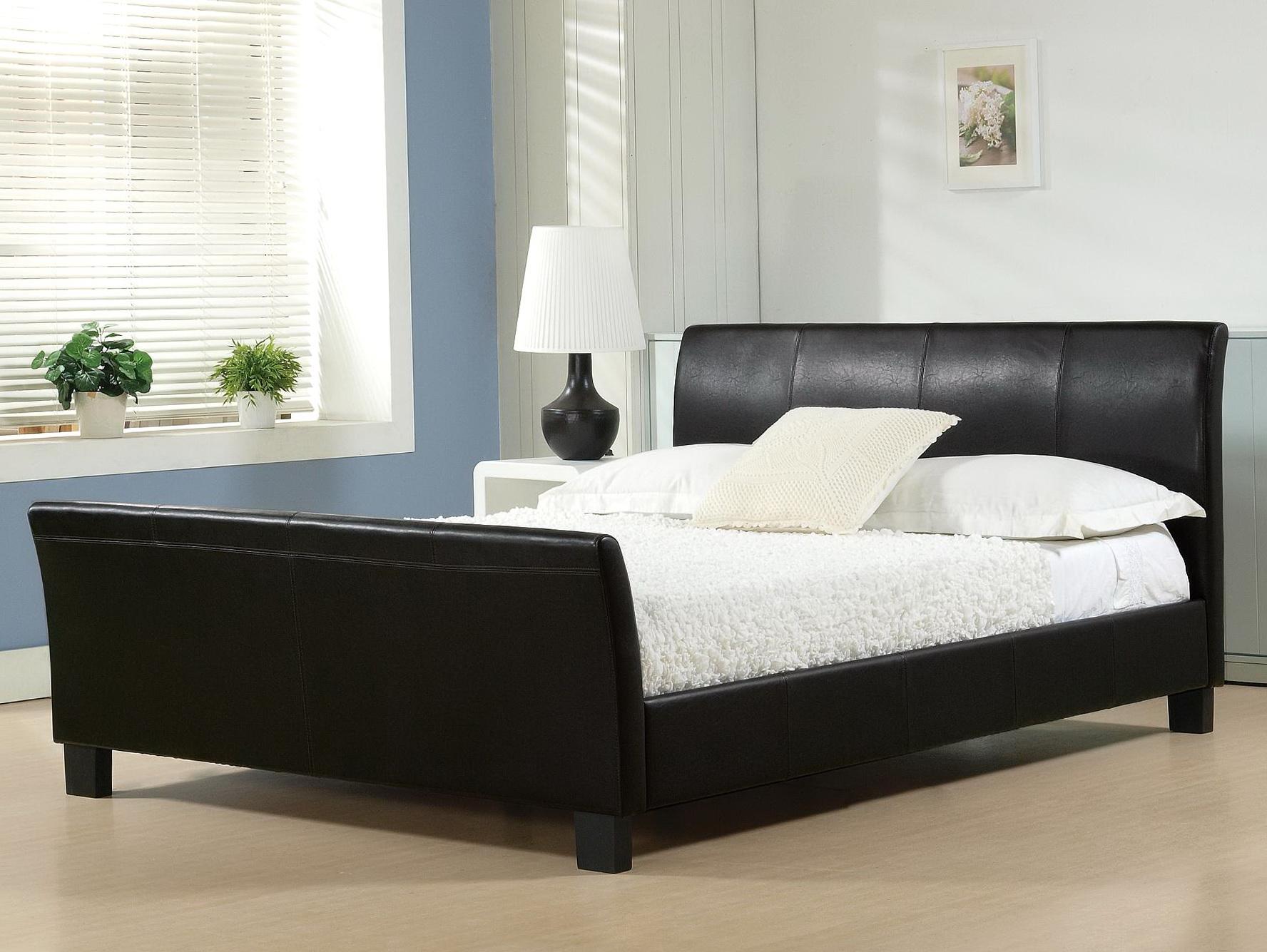 100 bed leather headboard alpine furniture ncc 07ck costa m