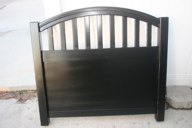 Black Twin Headboard Wood