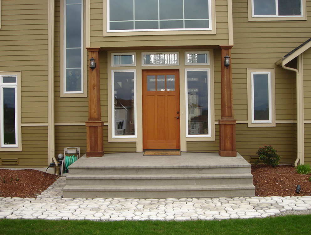 Cedar front porch columns home design ideas for Front porch kits for sale