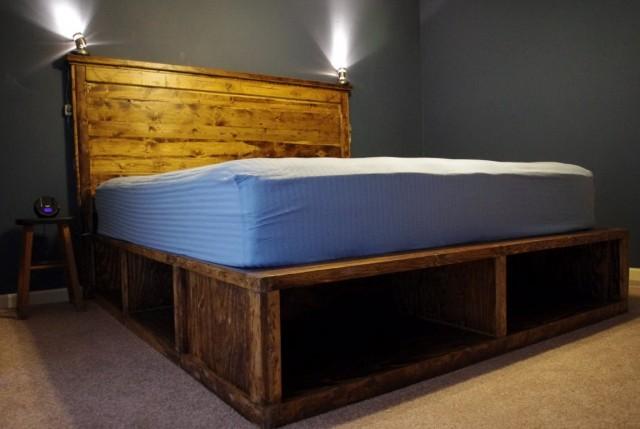 Diy Platform Bed With Headboard