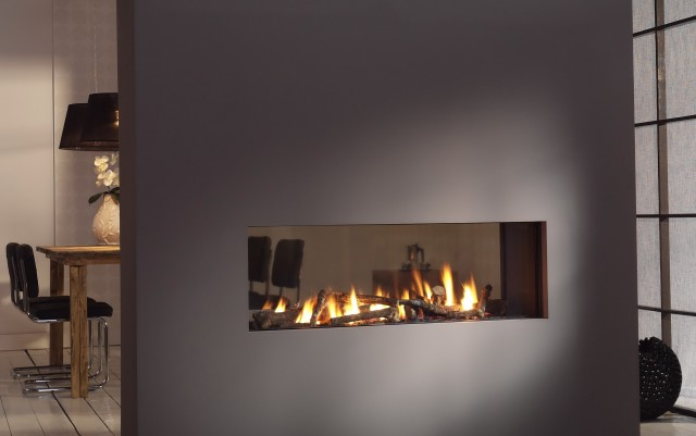 Double Sided Fireplaces Gas