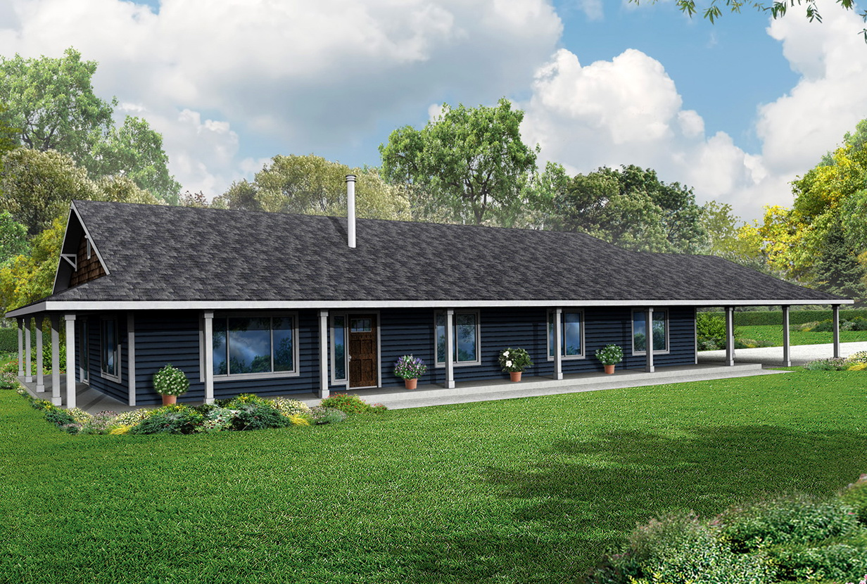 Double Wrap Around Porch House Plans