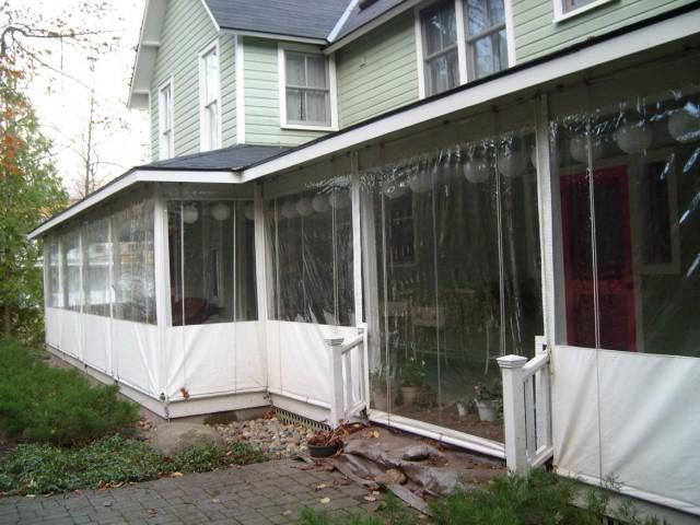 Enclosing A Porch With Plastic