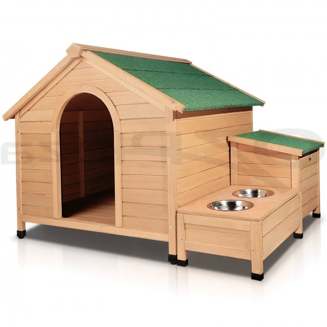 Extra large dog house plans with porch for Large dog house with porch