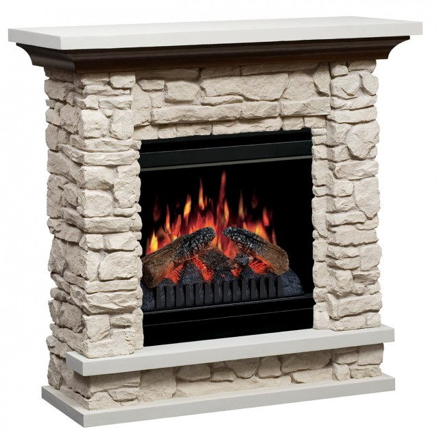 Faux Stone Electric Fireplaces