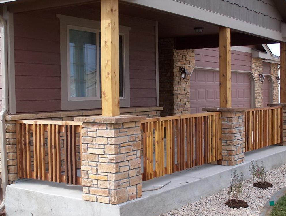 Stone Front Porch Columns Home Design Ideas