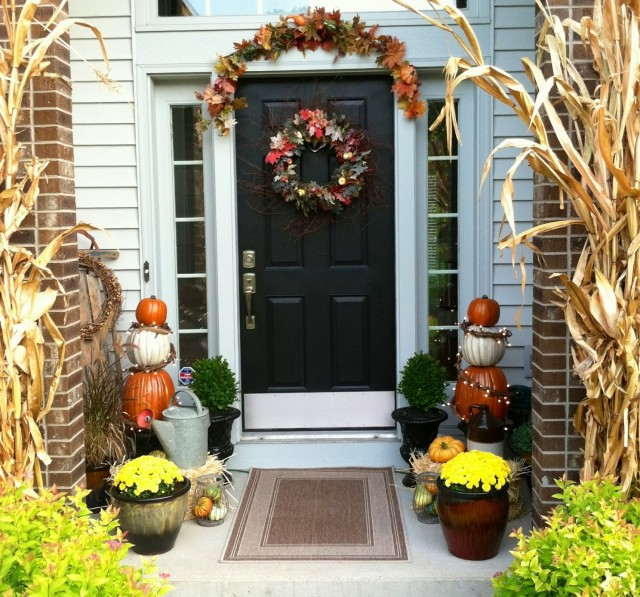 Front Porch Decorations For Fall