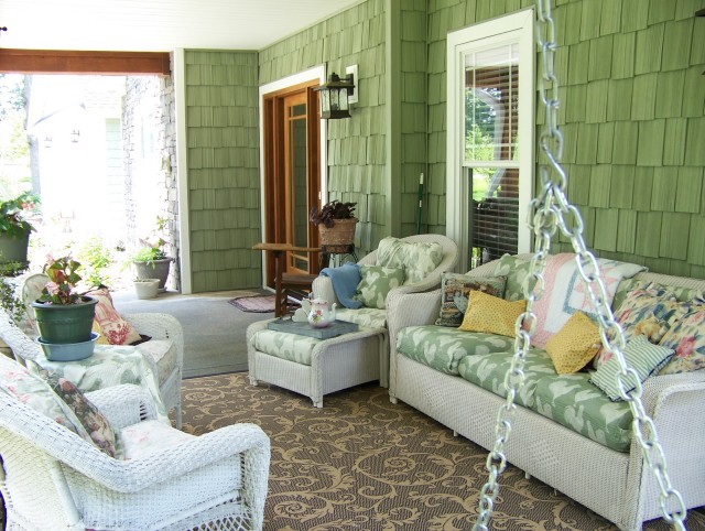Front Porch Furniture Decorating Ideas