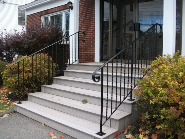 Front porch railing kit home design ideas for Front door portico kits