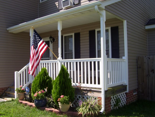 Vinyl Porch Railing Installation Cost Front Porch Amazing