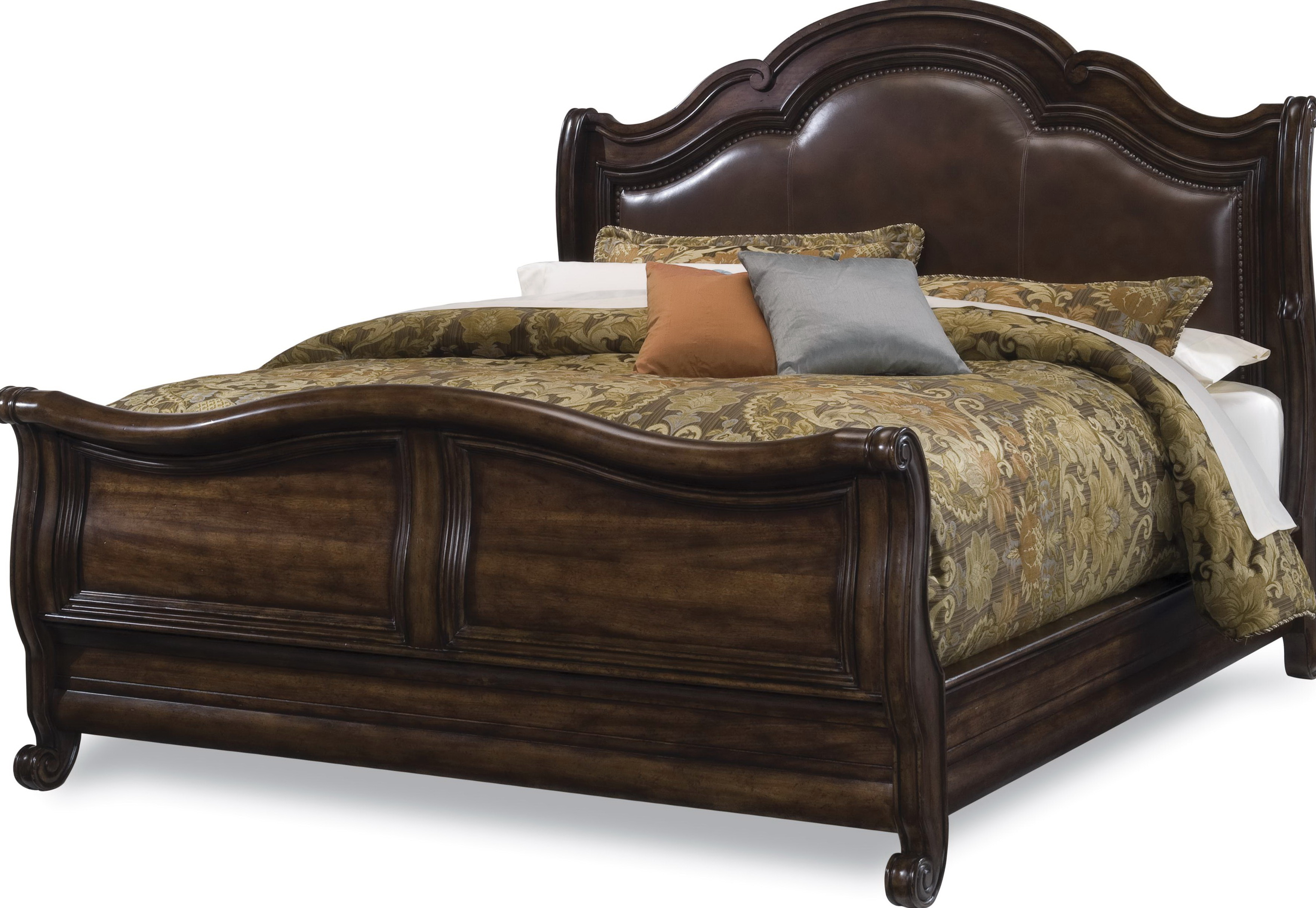 leather in wood frames headboard king frame size made contemporary bed