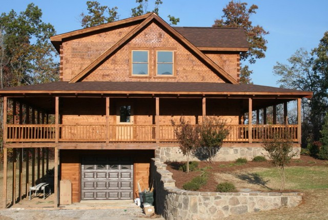 Log cabin floor plans with wrap around porch home design for Log cabin house plans with wrap around porches