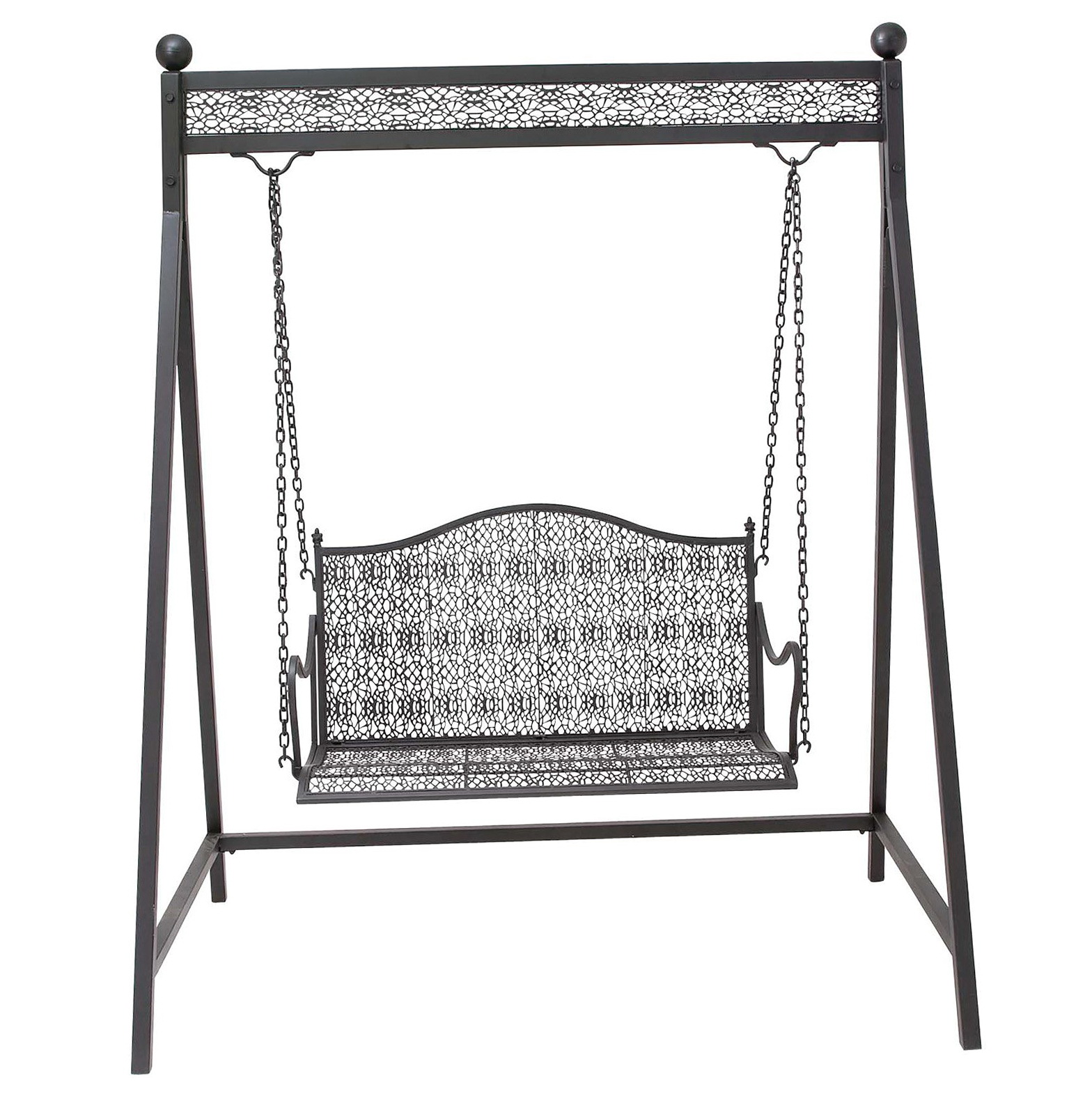 Metal porch swing stand home design ideas for White porch swing with stand