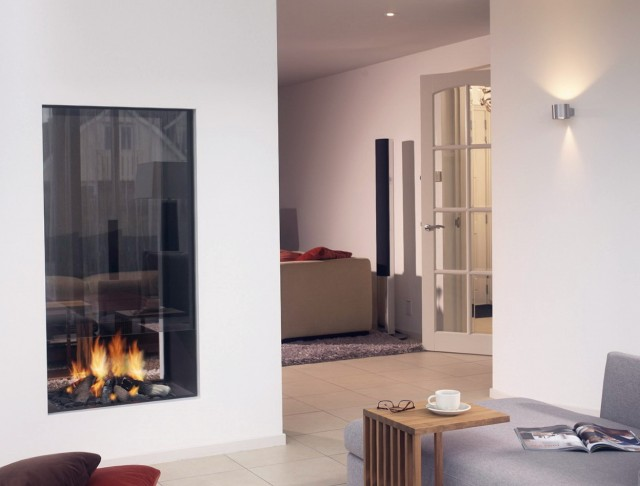 Pictures Of Double Sided Fireplaces