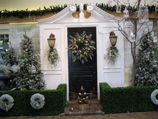 decorating front porch columns for christmas | home design ideas
