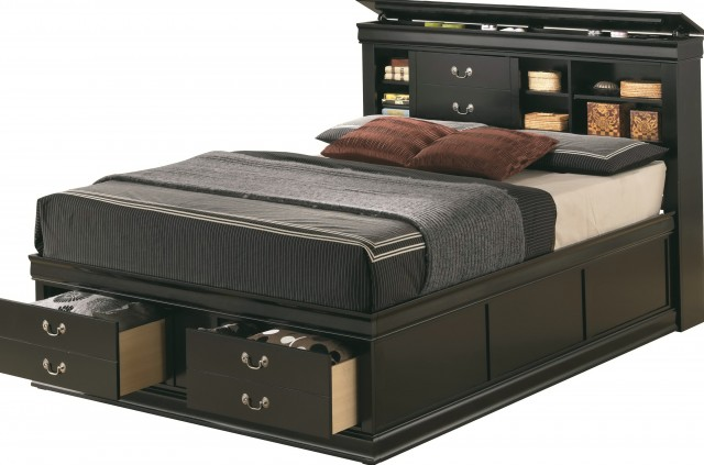 Queen Storage Bed With Headboard
