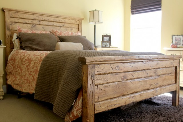 build a headboard from reclaimed wood  home design ideas, Headboard designs