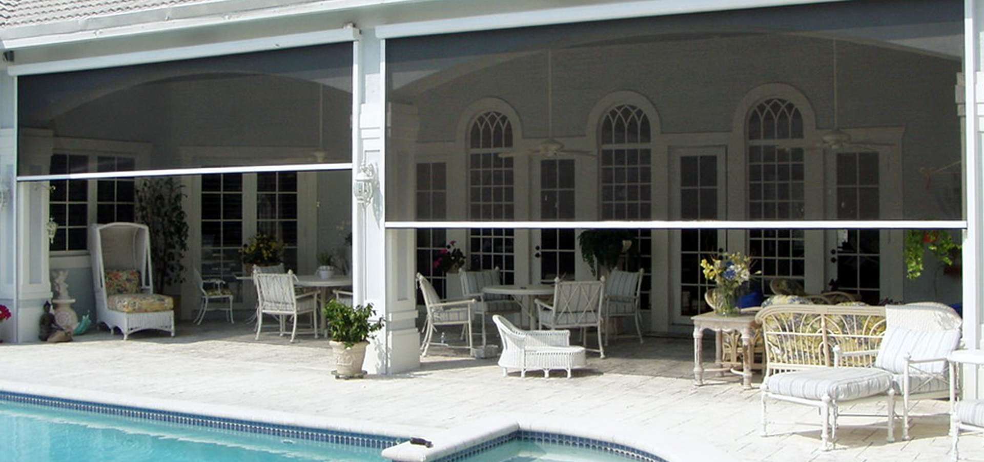 Retractable screen porch systems home design ideas for Retractable patio screens