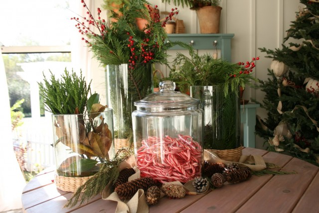 Rustic Christmas Porch Decorations