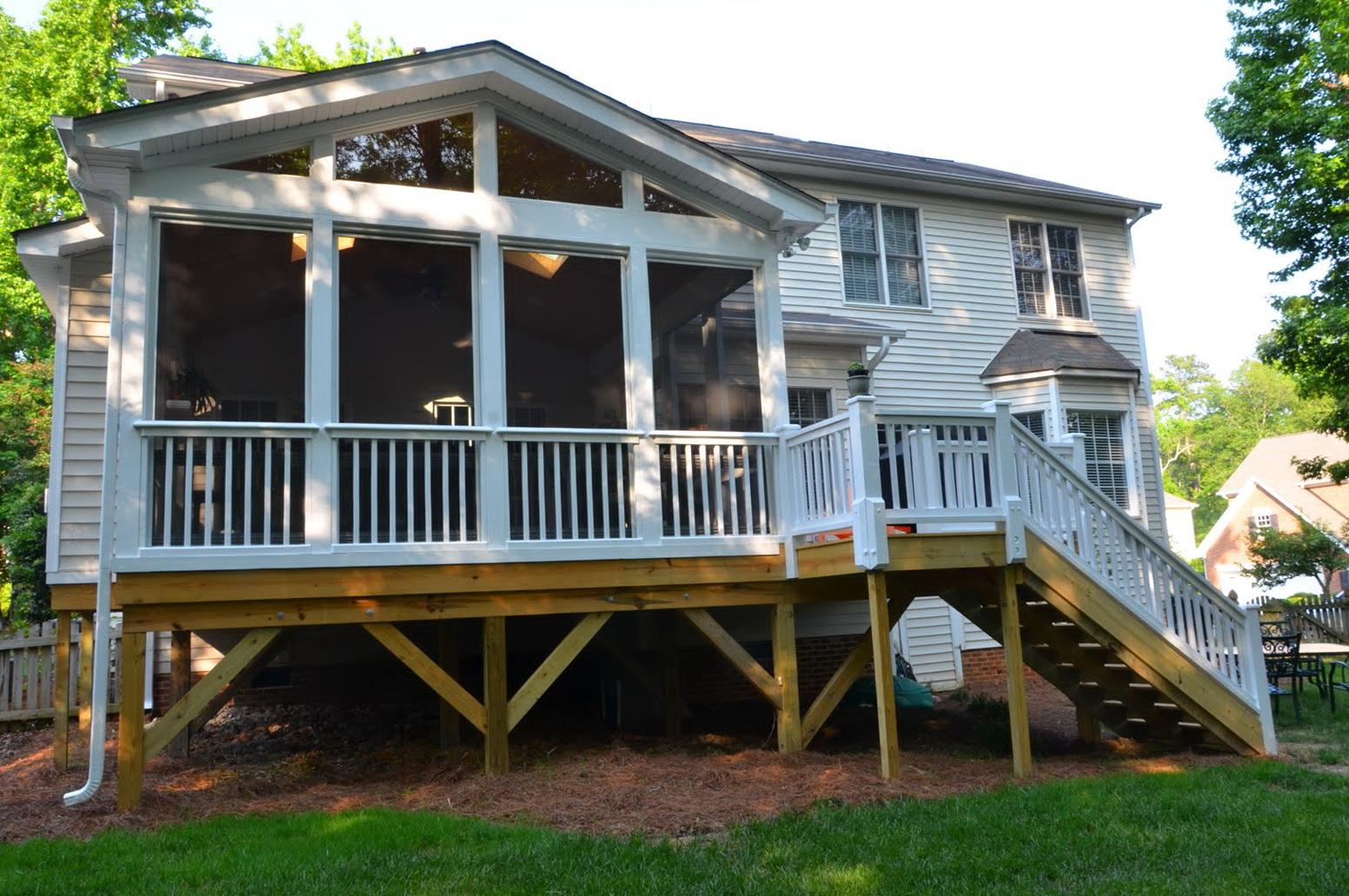 screen porch railing designs