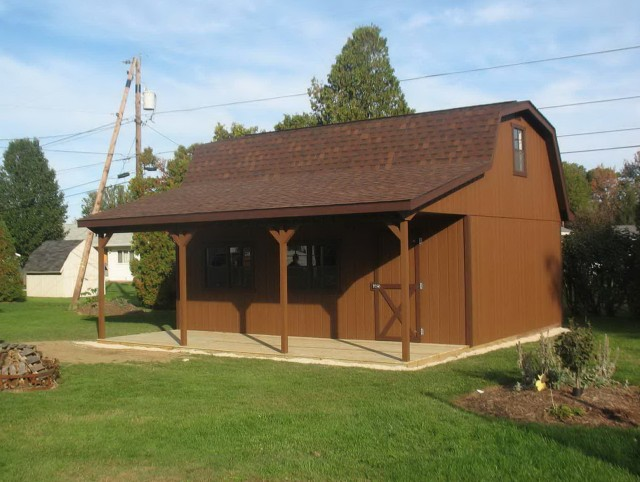 Shed With Porch Kit