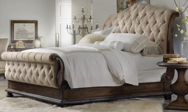 Tufted Headboard King Bed