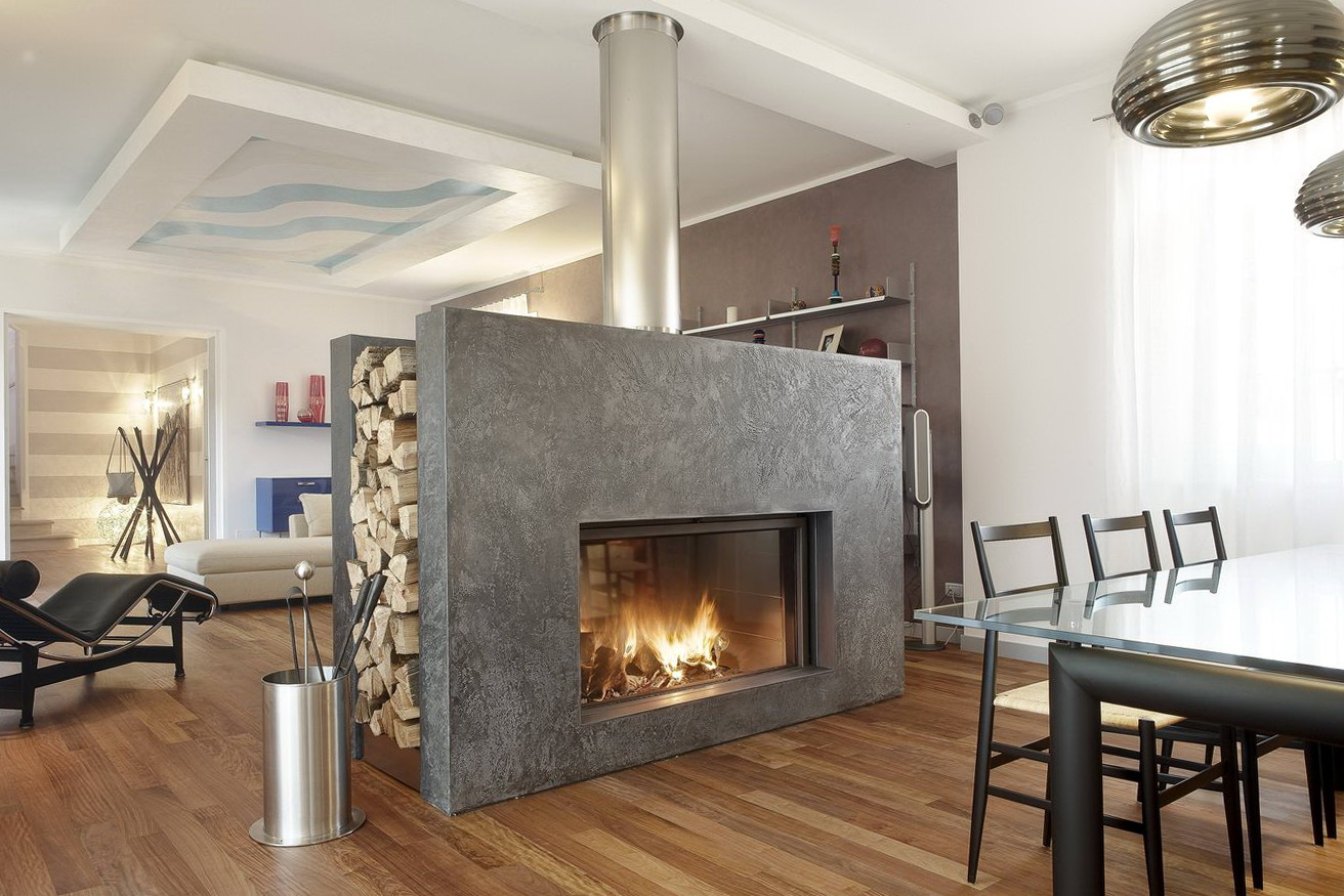 Two Sided Wood Burning Fireplace Insert Home Design Ideas