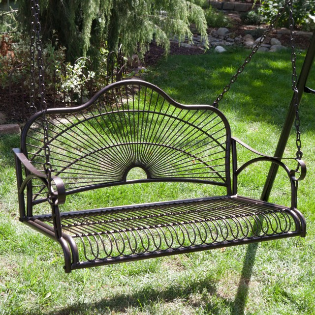 Vintage Metal Porch Swing