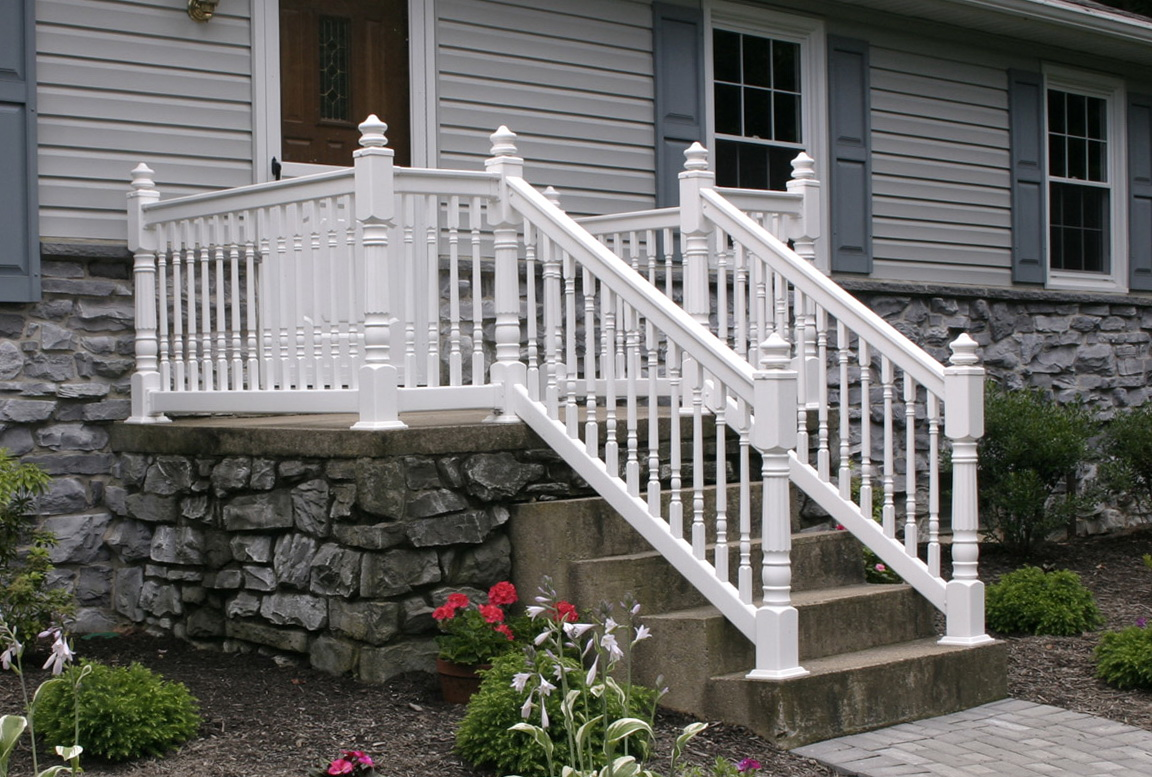 railing composite brackets deck size accessories of ideas rails railings full the deckscom porch