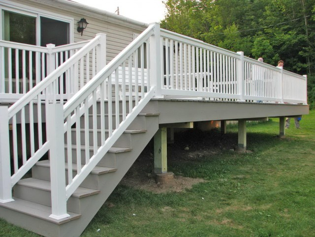 Vinyl Porch Railing Installation