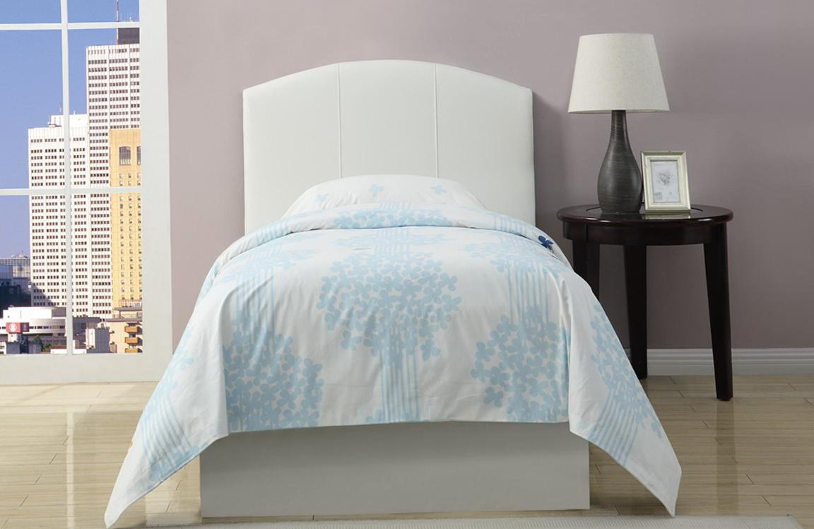 White Headboard Twin Bed