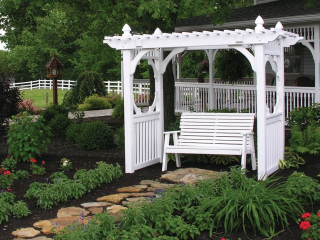 White Porch Swing With Stand