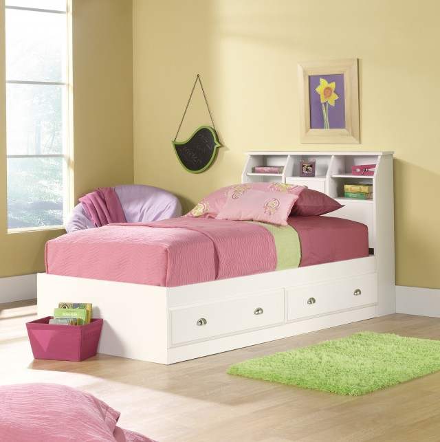 White Twin Headboard With Storage