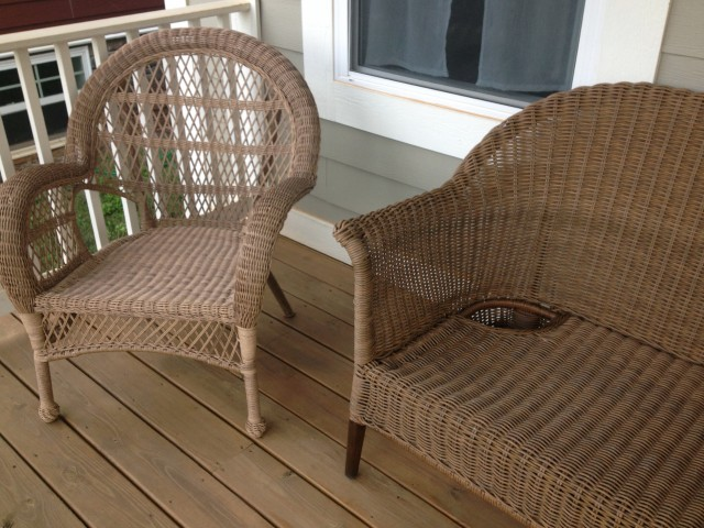 Wicker Furniture Front Porch