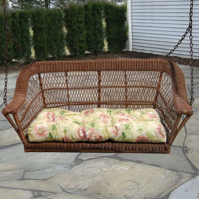 wicker porch swing home depot - Wicker Porch Swing