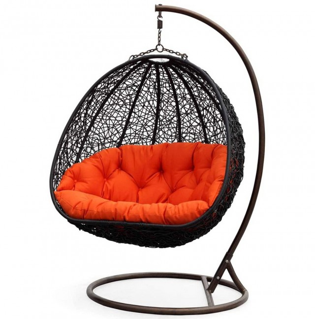 Wicker Porch Swing With Stand