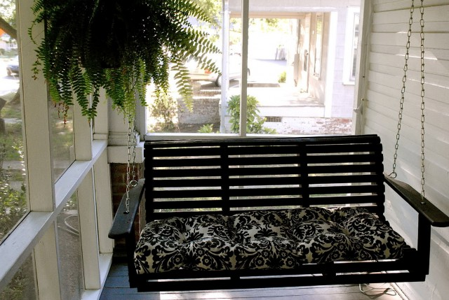 Wood Porch Swing Home Depot