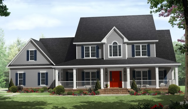 2 Story Farmhouse With Wrap Around Porch