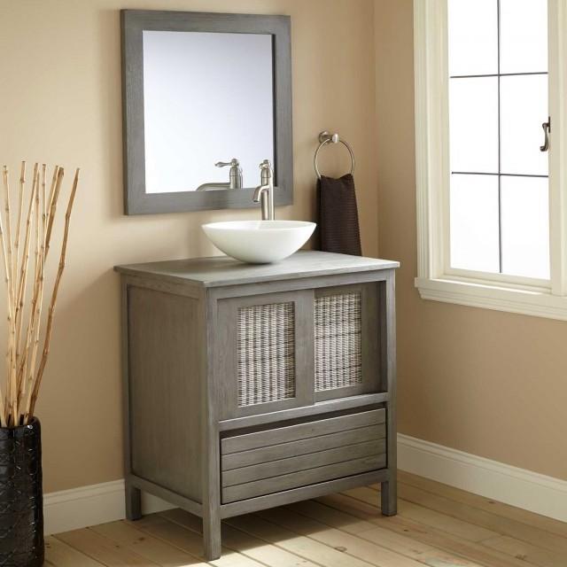 36 inch gray bathroom vanity home design ideas for Gray 30 inch bathroom vanity