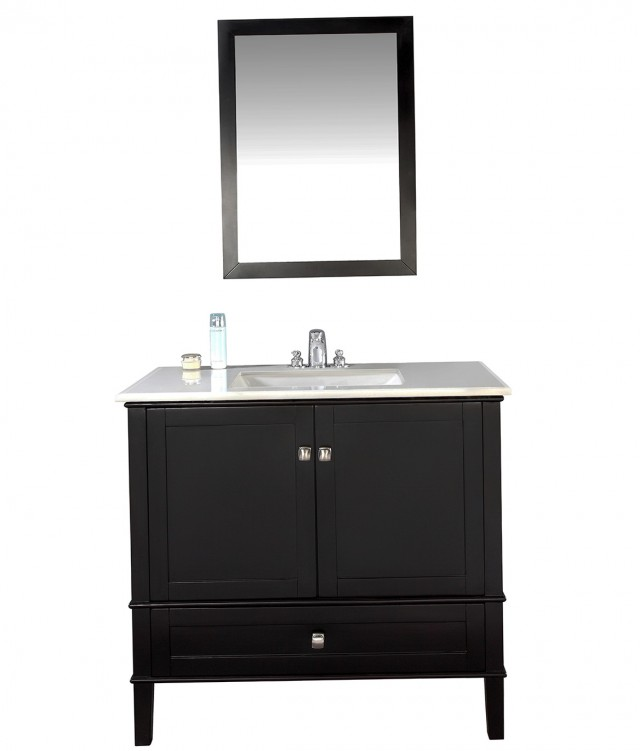 36 Inch Black Bathroom Vanity