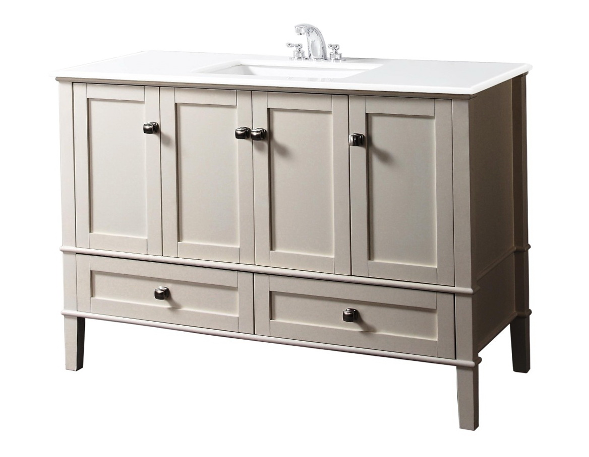 42 inch bathroom vanity with offset sink