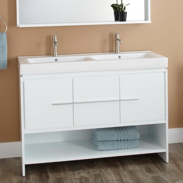 48 Double Sink Vanity White