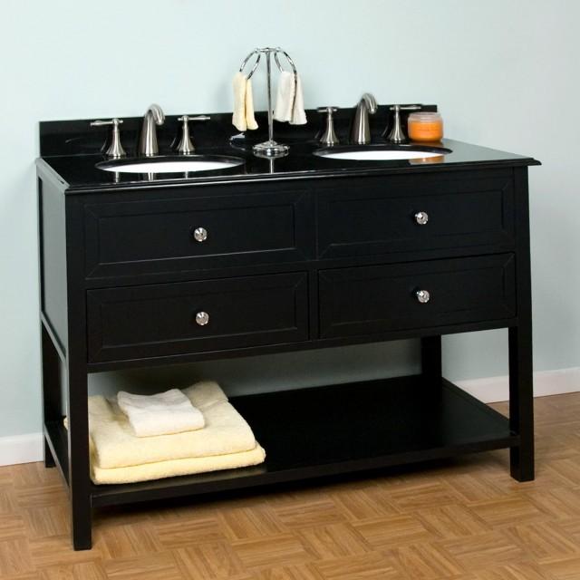 48 inch double sink vanity white home design ideas. Black Bedroom Furniture Sets. Home Design Ideas